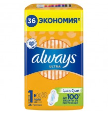 ALWAYS прокладки Ultra Light Quatro, 36 шт.