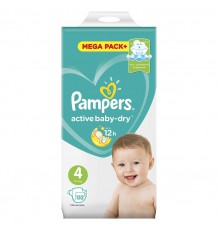 Подгузники Pampers Active Baby - Dry Maxi (9-14 кг), 132 шт.