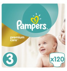 Подгузники Pampers Premium Care Midi (5-9 кг), 120 шт.