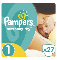 Подгузники Pampers New Baby - Dry Newborn (2-5 кг), 27 шт.