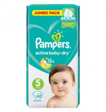 Подгузники Pampers Active Baby - Dry Junior (11-16 кг), 60 шт.