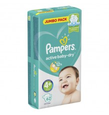Подгузники Pampers Active Baby - Dry Maxi Plus (10-15 кг), 62 шт.