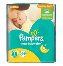 Подгузники Pampers New Baby - Dry Newborn (2-5 кг), 94 шт.