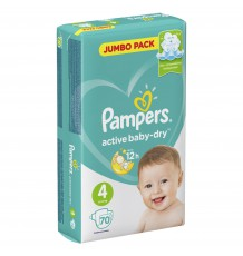 Подгузники Pampers Active Baby - Dry Maxi (9-14 кг), 70 шт.