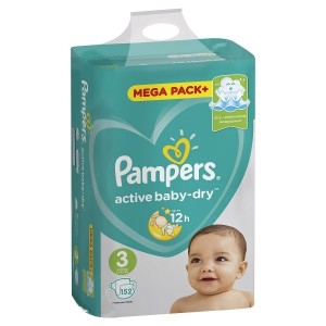 Подгузники Pampers Active Baby - Dry Midi (6-10 кг), 152 шт.