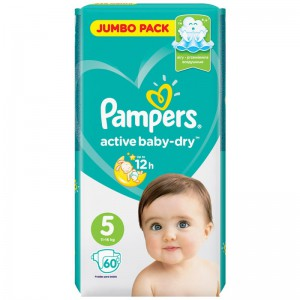 Подгузники Pampers Active Baby-Dry Junior (11-16 кг) 60шт