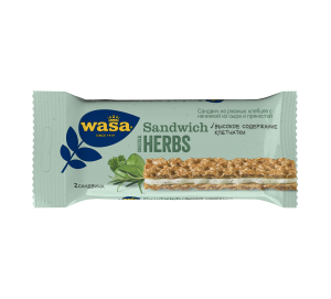 Хлебцы Wasa ржаные Cheese & Herbs, 30 г