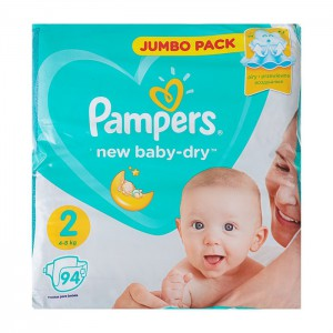 Подгузники Pampers New Baby-Dry Mini (4-8 кг), 94 шт.